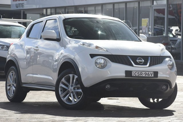 Used Nissan Juke F15 MY14 ST 2WD, 2013 Nissan Juke F15 MY14 ST 2WD White 1 Speed Constant Variable SUV