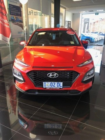 Demo Hyundai Kona OS.2 MY19 Active D-CT AWD, 2019 Hyundai Kona OS.2 MY19 Active D-CT AWD Tangerine Comet 7 Speed Sports Automatic Dual Clutch