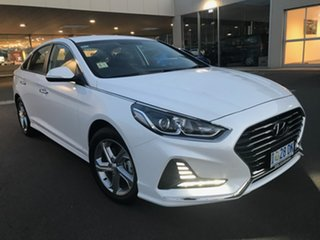 2018 Hyundai Sonata LF4 MY18 Active White Cream 6 Speed Sports Automatic Sedan.
