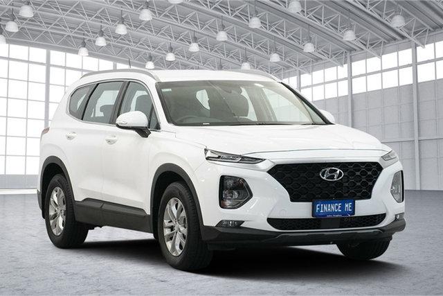 Used Hyundai Santa Fe TM MY19 Active, 2018 Hyundai Santa Fe TM MY19 Active White Cream 8 Speed Sports Automatic Wagon