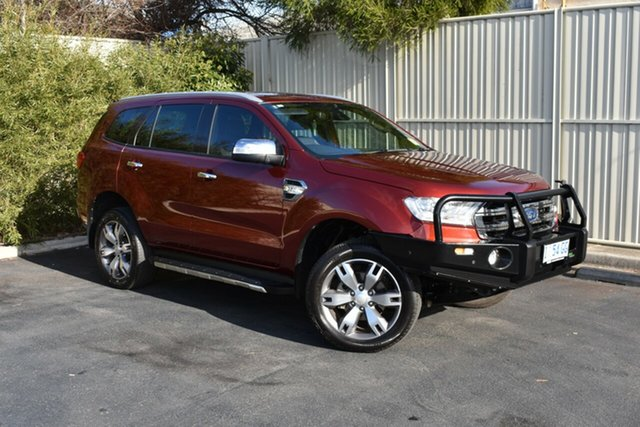 Used Ford Everest UA Titanium 4WD, 2017 Ford Everest UA Titanium 4WD Maroon 6 Speed Sports Automatic Wagon