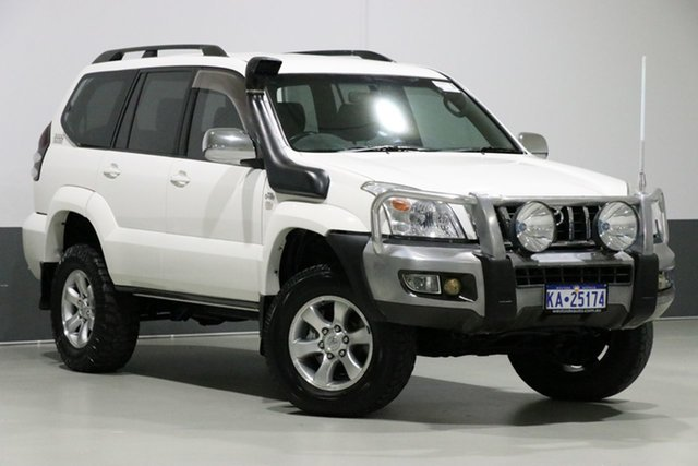Used Toyota Landcruiser Prado KDJ120R 07 Upgrade GXL (4x4), 2009 Toyota Landcruiser Prado KDJ120R 07 Upgrade GXL (4x4) White 5 Speed Automatic Wagon