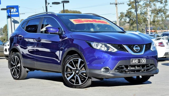 Used Nissan Qashqai J11 TI, 2016 Nissan Qashqai J11 TI Purple/Black 1 Speed Constant Variable Wagon