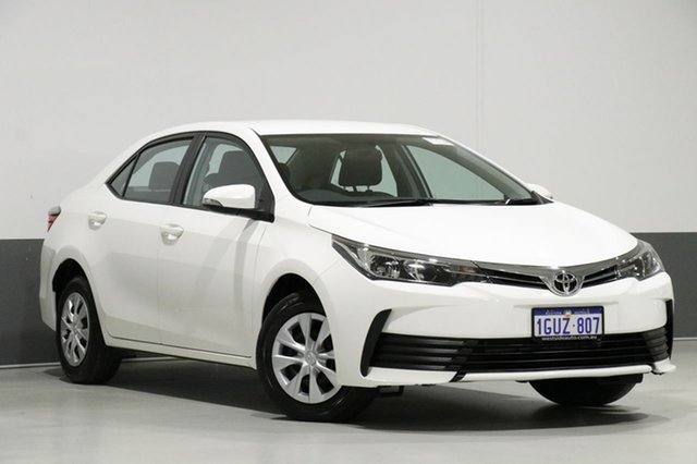 Used Toyota Corolla ZRE172R Ascent, 2017 Toyota Corolla ZRE172R Ascent White 7 Speed CVT Auto Sequential Sedan