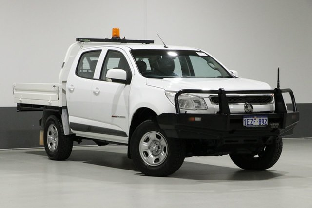Used Holden Colorado RG MY16 LS (4x4), 2016 Holden Colorado RG MY16 LS (4x4) White 6 Speed Automatic Crew Cab Chassis