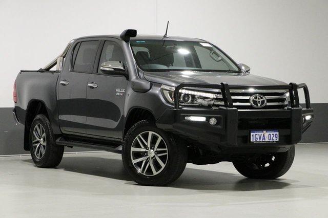 Used Toyota Hilux GUN126R SR5 (4x4), 2017 Toyota Hilux GUN126R SR5 (4x4) Graphite 6 Speed Manual Dual Cab Utility