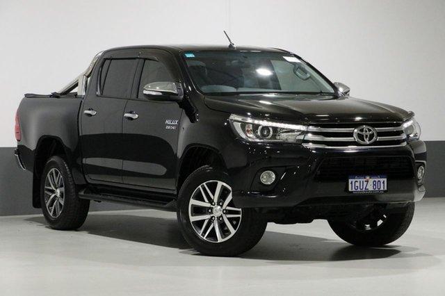 Used Toyota Hilux GUN126R MY17 SR5 (4x4), 2017 Toyota Hilux GUN126R MY17 SR5 (4x4) Black 6 Speed Automatic Dual Cab Utility