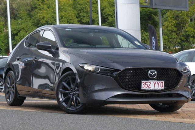 Demo Mazda 3 BP2HLA G25 SKYACTIV-Drive GT, 2019 Mazda 3 BP2HLA G25 SKYACTIV-Drive GT Machine Grey 6 Speed Sports Automatic Hatchback