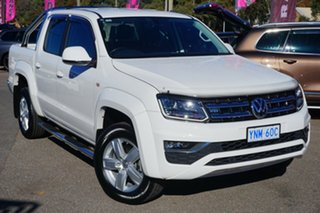 2016 Volkswagen Amarok 2H MY17 TDI550 4MOTION Perm Highline Candy White 8 Speed Automatic Utility.