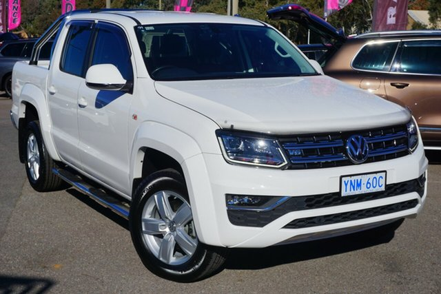 Used Volkswagen Amarok 2H MY17 TDI550 4MOTION Perm Highline, 2016 Volkswagen Amarok 2H MY17 TDI550 4MOTION Perm Highline Candy White 8 Speed Automatic Utility