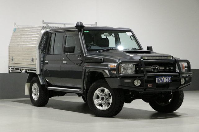 Used Toyota Landcruiser VDJ79R MY18 GXL (4x4), 2019 Toyota Landcruiser VDJ79R MY18 GXL (4x4) Graphite 5 Speed Manual Double Cab Chassis