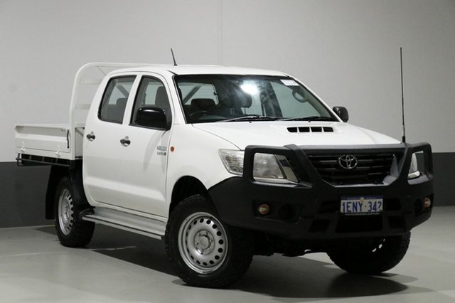 Used Toyota Hilux KUN26R MY14 SR (4x4), 2014 Toyota Hilux KUN26R MY14 SR (4x4) White 5 Speed Automatic Dual Cab Pick-up