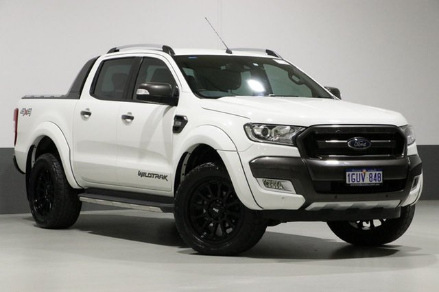 Used Ford Ranger PX MkII Wildtrak 3.2 (4x4), 2016 Ford Ranger PX MkII Wildtrak 3.2 (4x4) White 6 Speed Automatic Dual Cab Pick-up