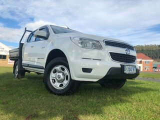 2014 Holden Colorado RG MY14 LX Crew Cab Summit White 6 Speed Sports Automatic Cab Chassis.