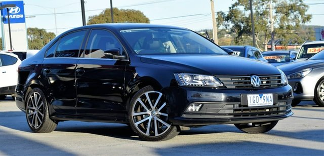 Used Volkswagen Jetta 1B MY16 155TSI DSG Highline Sport, 2015 Volkswagen Jetta 1B MY16 155TSI DSG Highline Sport Black 6 Speed Sports Automatic Dual Clutch