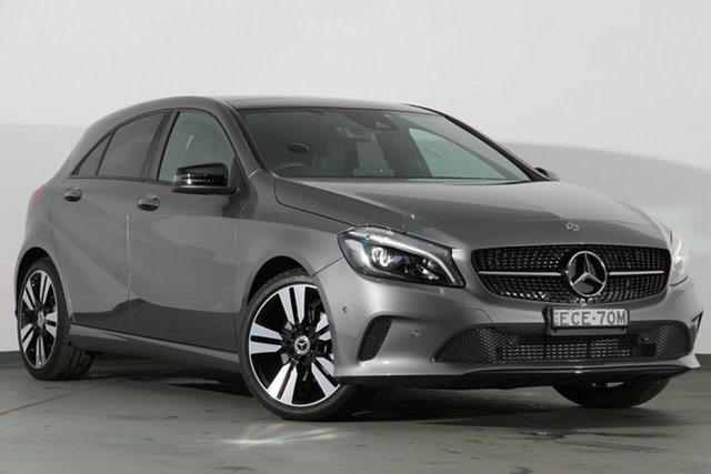Used Mercedes-Benz A180 W176 807MY D-CT, 2017 Mercedes-Benz A180 W176 807MY D-CT Mountain Grey 7 Speed Sports Automatic Dual Clutch Hatchback
