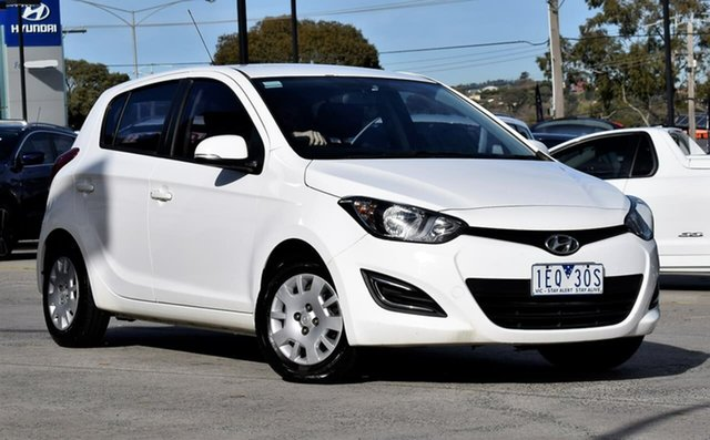 Used Hyundai i20 PB MY15 Active, 2015 Hyundai i20 PB MY15 Active White 4 Speed Automatic Hatchback