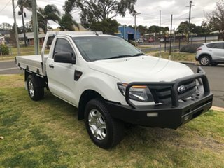 2014 Ford Ranger PX XL 3.2 (4x4) White 6 Speed Automatic Cab Chassis