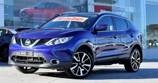 2016 Nissan Qashqai J11 TI Purple/Black 1 Speed Constant Variable Wagon.