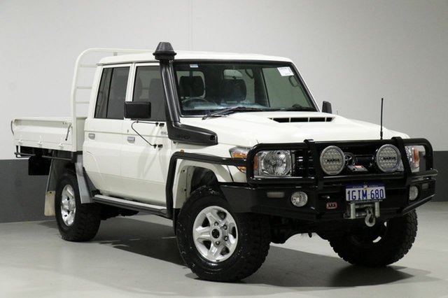 Used Toyota Landcruiser LC70 VDJ79R MY17 GXL (4x4), 2017 Toyota Landcruiser LC70 VDJ79R MY17 GXL (4x4) White 5 Speed Manual Double Cab Chassis