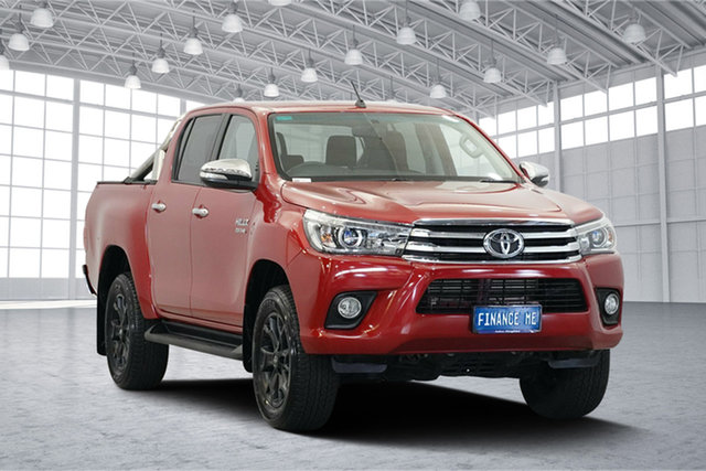 Used Toyota Hilux GUN126R SR5 Double Cab, 2016 Toyota Hilux GUN126R SR5 Double Cab Red 6 Speed Sports Automatic Utility