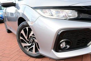 2019 Honda Civic 10th Gen MY18 VTi-S Lunar Silver 1 Speed Constant Variable Hatchback.