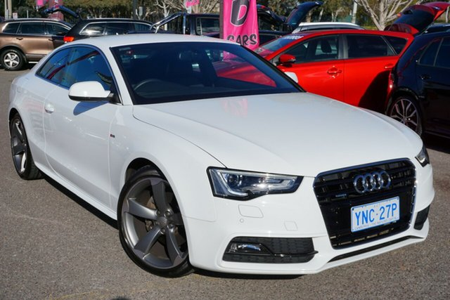 Used Audi A5 8T MY15 S Tronic Quattro, 2015 Audi A5 8T MY15 S Tronic Quattro White 7 Speed Sports Automatic Dual Clutch Coupe