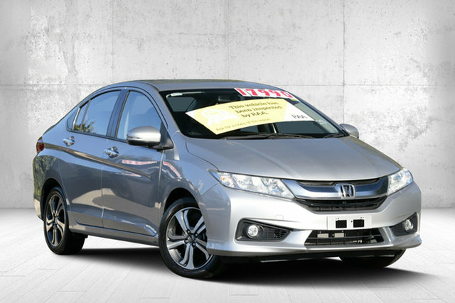 Used Honda City GM MY16 VTi-L, 2015 Honda City GM MY16 VTi-L Alabaster Silver 7 Speed Constant Variable Sedan