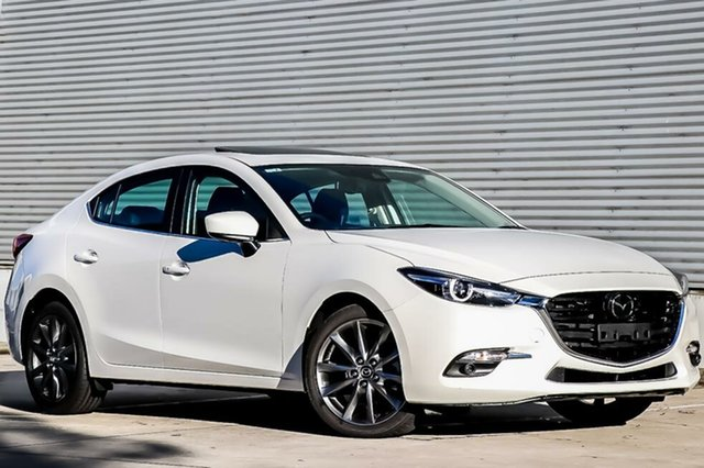 New Mazda 3 BN5238 SP25 SKYACTIV-Drive Astina, 2018 Mazda 3 BN5238 SP25 SKYACTIV-Drive Astina Snowflake White Pearl 6 Speed Sports Automatic Sedan