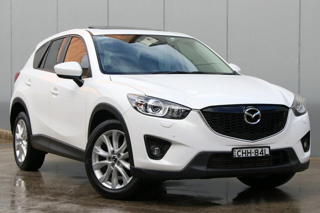 Used Mazda CX-5 KE1021 Grand Touring SKYACTIV-Drive AWD, 2012 Mazda CX-5 KE1021 Grand Touring SKYACTIV-Drive AWD White 6 Speed Sports Automatic Wagon