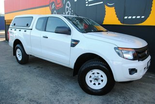 2012 Ford Ranger PX XL Super Cab Super White 6 Speed Manual Utility.