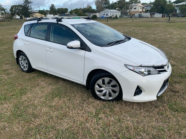 Used Toyota Corolla ZRE182R Ascent, 2013 Toyota Corolla ZRE182R Ascent Glacier White 6 Speed Manual Hatchback