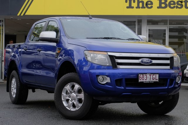 Used Ford Ranger PX XLS Double Cab, 2013 Ford Ranger PX XLS Double Cab Blue 6 Speed Manual Utility
