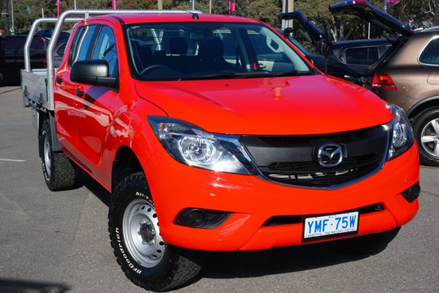 Used Mazda BT-50 UR0YG1 XT, 2017 Mazda BT-50 UR0YG1 XT Red 6 Speed Manual Utility