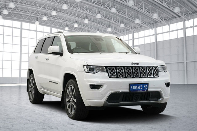Used Jeep Grand Cherokee WK MY17 Overland, 2017 Jeep Grand Cherokee WK MY17 Overland Pearl White 8 Speed Sports Automatic Wagon