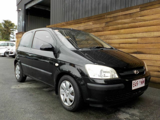 Used Hyundai Getz TB MY04 GL, 2004 Hyundai Getz TB MY04 GL Black 4 Speed Automatic Hatchback