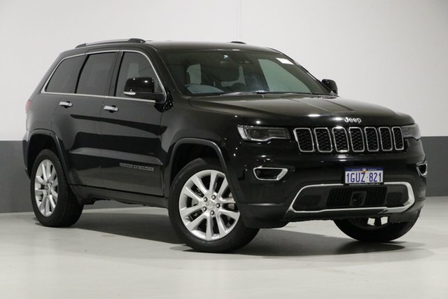 Used Jeep Grand Cherokee WK MY18 Limited (4x4), 2017 Jeep Grand Cherokee WK MY18 Limited (4x4) Black 8 Speed Automatic Wagon