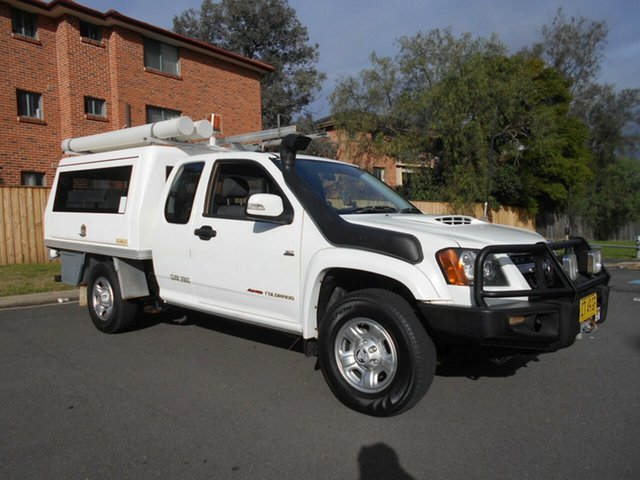 Used Holden Colorado RC MY10 LX (4x4), 2010 Holden Colorado RC MY10 LX (4x4) White 5 Speed Manual Space Cab Chassis