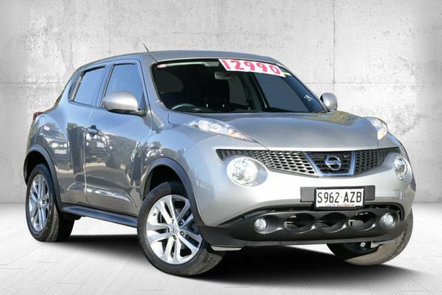 Used Nissan Juke F15 MY14 ST 2WD, 2013 Nissan Juke F15 MY14 ST 2WD Platinum Silver 5 Speed Manual Hatchback