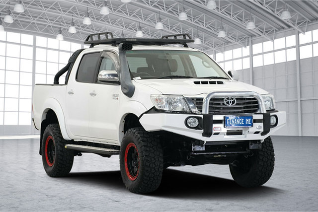 Used Toyota Hilux KUN26R MY14 Black Double Cab Limited Edition, 2014 Toyota Hilux KUN26R MY14 Black Double Cab Limited Edition White 5 Speed Manual Utility