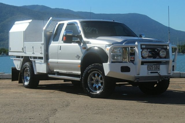 Used Ford F350 MY12 , 2011 Ford F350 MY12 LARIAT Silver Automatic Cab Chassis