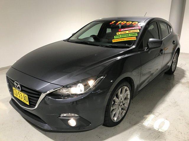Used Mazda 3 BM5438 SP25 SKYACTIV-Drive, 2014 Mazda 3 BM5438 SP25 SKYACTIV-Drive Grey 6 Speed Sports Automatic Hatchback