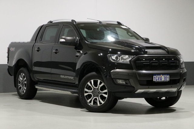 Used Ford Ranger PX MkII MY17 Wildtrak 3.2 (4x4), 2017 Ford Ranger PX MkII MY17 Wildtrak 3.2 (4x4) Black 6 Speed Automatic Dual Cab Pick-up