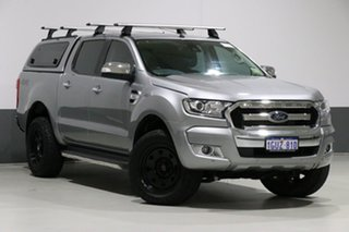 2016 Ford Ranger PX MkII XLT 3.2 (4x4) Silver 6 Speed Automatic Dual Cab Utility.