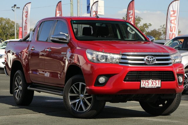Used Toyota Hilux GUN126R SR5 Double Cab, 2017 Toyota Hilux GUN126R SR5 Double Cab Olympia Red/cloth 6 Speed Sports Automatic Utility