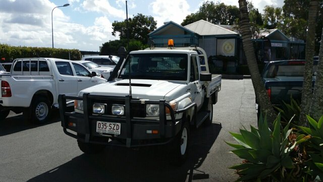 Used Toyota Landcruiser VDJ79R MY13 Workmate, 2012 Toyota Landcruiser VDJ79R MY13 Workmate French Vanilla 5 Speed Manual Cab Chassis