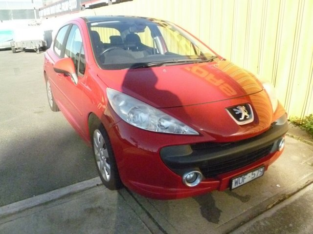 Used Peugeot 207 A7 XT, 2007 Peugeot 207 A7 XT Red 5 Speed Manual Hatchback