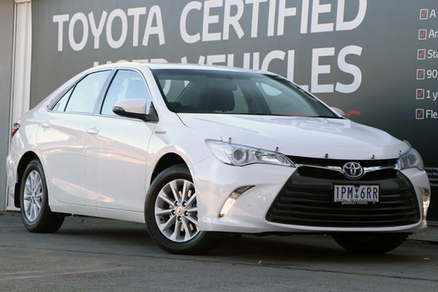 Used Toyota Camry AVV50R Altise, 2016 Toyota Camry AVV50R Altise Diamond White 1 Speed Constant Variable Sedan Hybrid