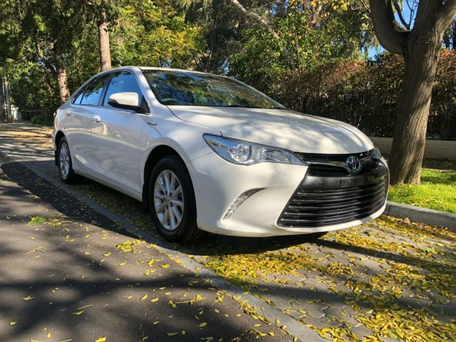 Used Toyota Camry AVV50R Hybrid H, 2015 Toyota Camry AVV50R Hybrid H White 1 Speed Constant Variable Sedan Hybrid