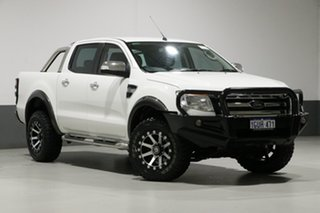 2015 Ford Ranger PX XLT 3.2 (4x4) White 6 Speed Automatic Dual Cab Utility.